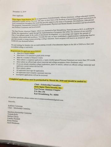 Delta Sigma Theta Sorority, Inc Scholarship