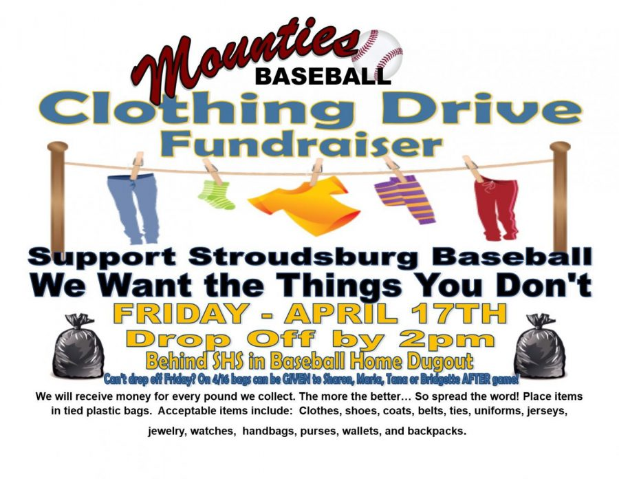 Baseball Clothing Drive