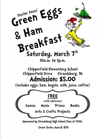 Dr. Seuss' Green Eggs & Ham Brunch: 3/3/19 (11 a.m.- 2 p.m.)