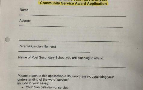 Stroudsburg Lions Club Harold Snyder Community Service Award Scholarship