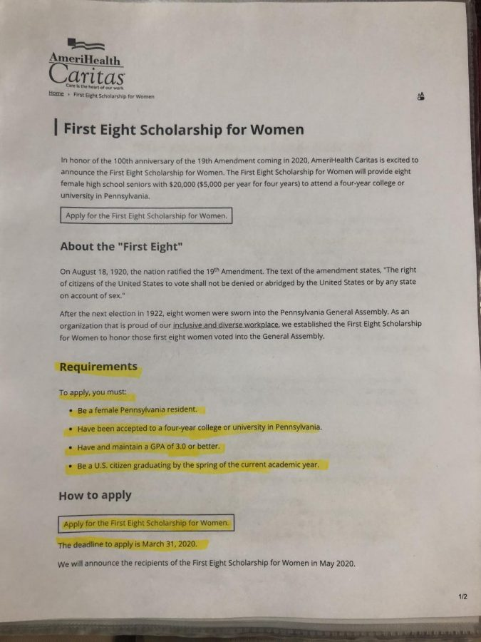 First Eight Scholarship for Women