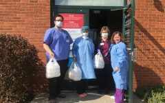 Project Quarantine on one of their deliveries to the Bartonsville Lehigh Valley Hospital Network COVID-19 testing clinic.