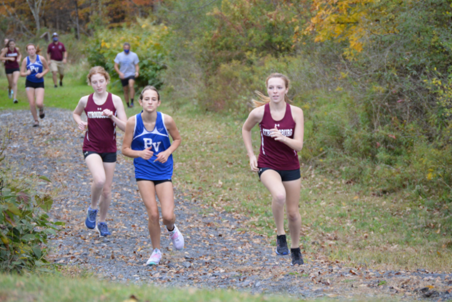 Girls XC in action vs. Pleasant Valley