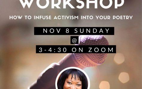Spoken Word Workshop: 11/8/20 (3 P.M.- 4:30 P.M.)