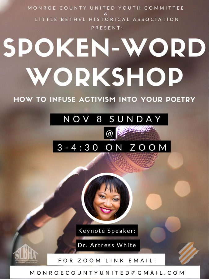 Spoken Word Workshop: 11/8/20 (3 P.M.- 4:30 P.M.)