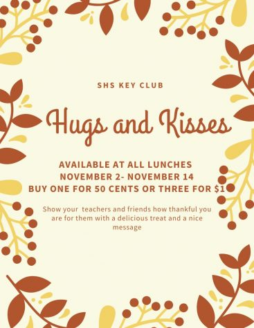 Key Club Hugs and Kisses Sale: 11/2-11/14