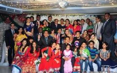 Photograph of Mehrin Hossain's family at a wedding in Bangladesh.