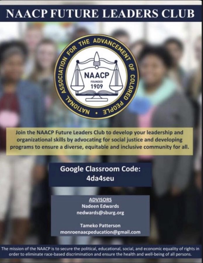 Featuring NAACP Future Leaders Club Advisors, information about the club and contacts