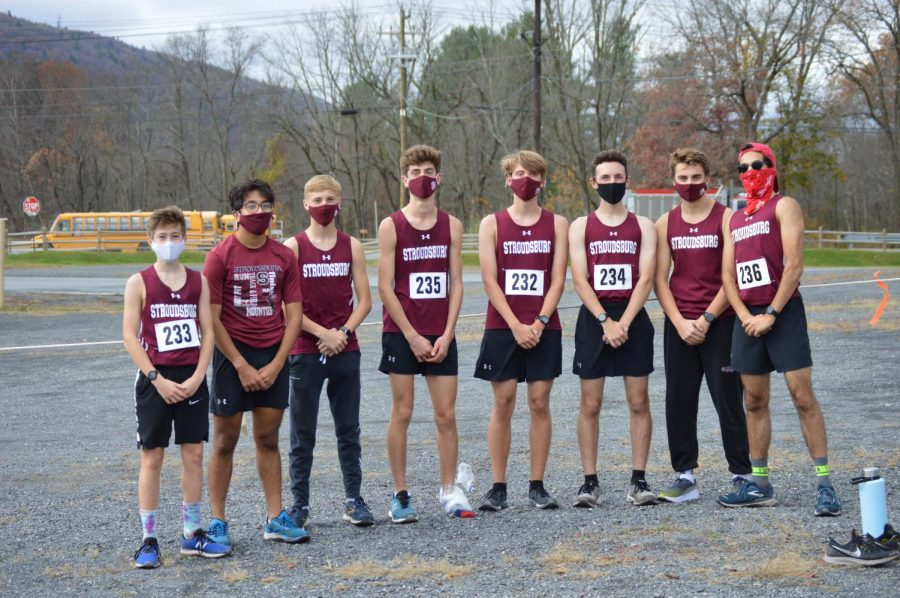 Varsity boys cross country after their District XI championship meet.