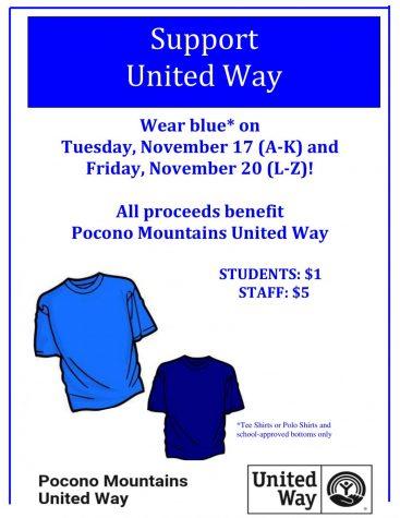 United Way Dress Down 11/17 (A-K), 11/20 (L-Z)