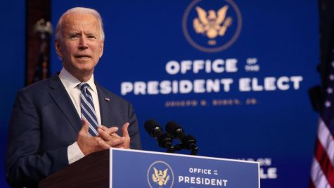 President-Elect Joe Biden speaks from Wilmington, Delaware for a news conference Nov. 10, 2020.