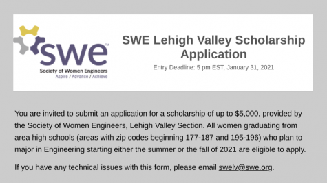 SWE-LV scholarship (Due 1-31-21)
