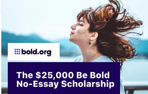 Be Bold Scholarship (Due: 12-31-20)