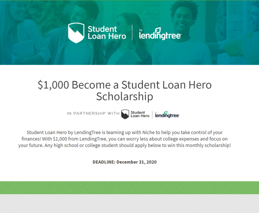 Become a Student Loan Hero Scholarship (Due: 12-31-20)