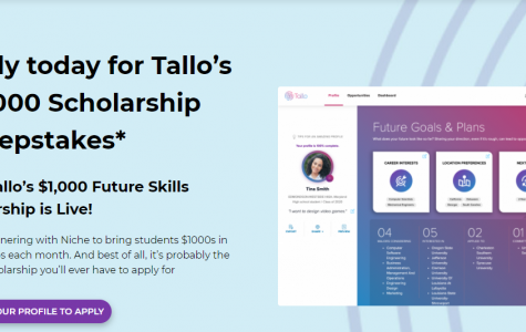 Tallo's Scholarship (Due: 12-31-20)