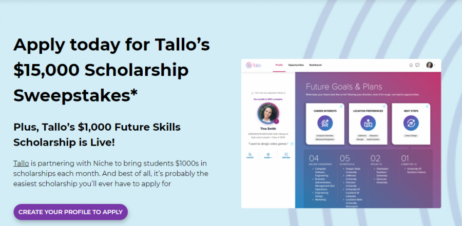 Tallo's Scholarship (Due: 12-31-20)