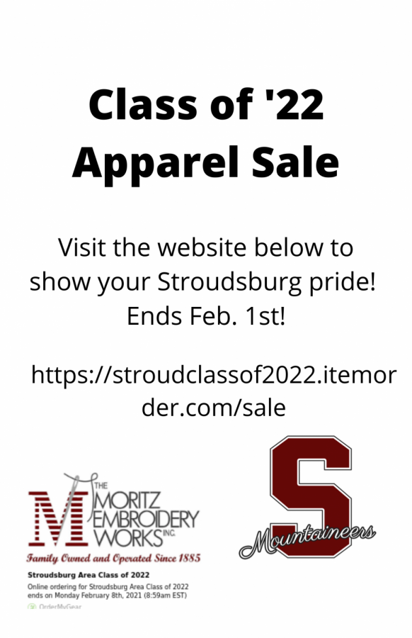 Class of '22 Apparel Sale: Ends 2/1/21