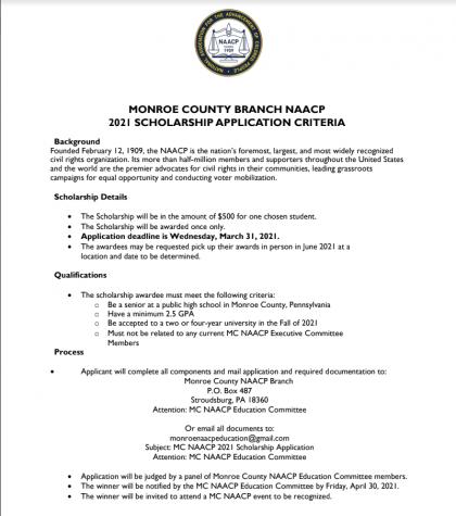 NAACP Scholarship (Due: 03-31-21)