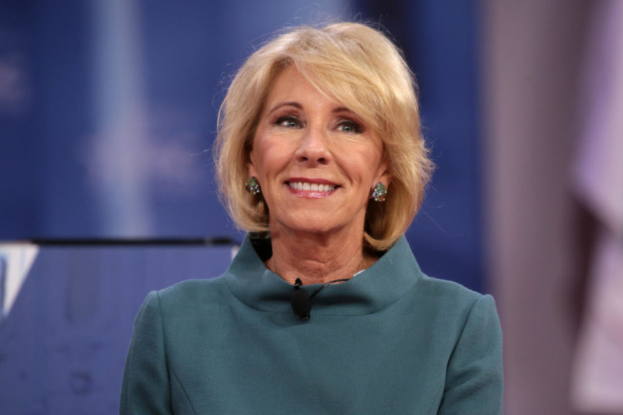 U.S. Secretary of Education, Betsy DeVos, resigns after the attack on Capitol.