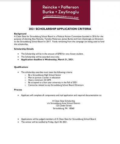 A Clean Slate Scholarship (Due: 03-31-21)