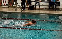 Sophomore Katherine Hosko swims at the Chipperfield Elementary School pool.