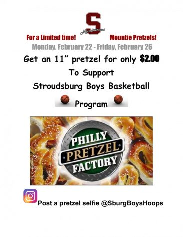 Boys Basketball Pretzel Fundraiser: 2/22/21- 2/26/21