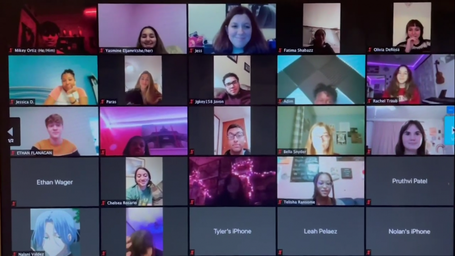 A Project Quarantine zoom call with many different members is pictured.