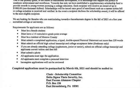 Delta Sigma Theta Scholarship (Due: 03-06-21)