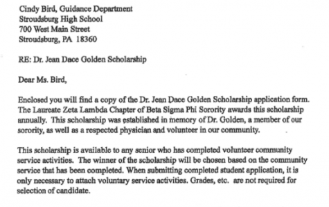 Dr. Jean Golden Scholarship (Due: 04-16-21)