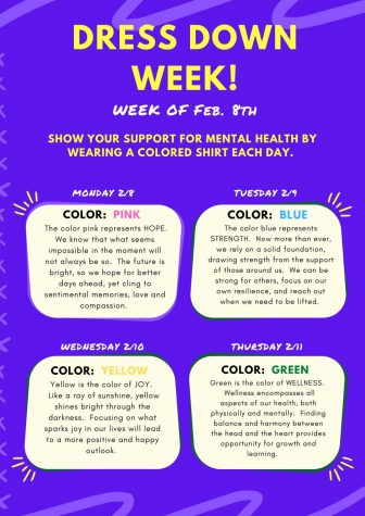 Mental Health Dress Down Week: 2/8-2/11/21