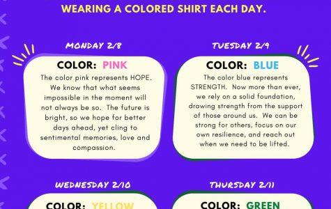 Mental Health Dress Down Week: 2/8-2/11/21