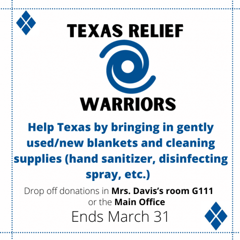 Mini-THON Blanket Drive for Texas: Ends 3/31/21