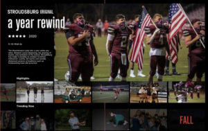 Here is a first look at one of Stroudsburg's 2020-2021 yearbook pages.