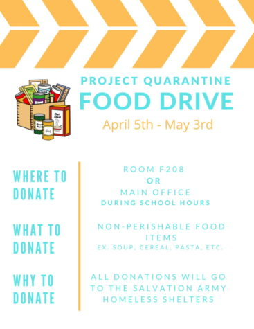 Project Quarantine Food Drive: 4/5 to 5/3