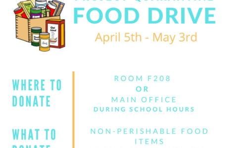 Project Quarantine Food Drive: 4/5 to 5/3