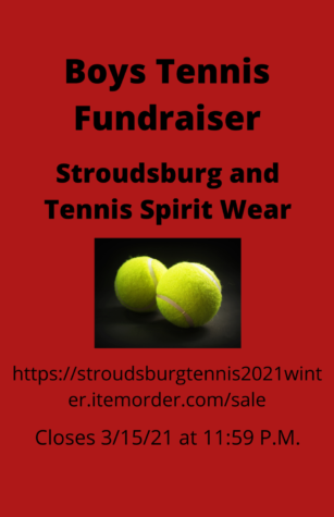 Boys Tennis Spirit Wear Fundraiser: 3/15/21 (11:59 P.M.)