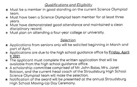 Marla K. Balas Scholarship (Due: 04-09-21)
