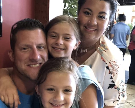 Photo of Mr. Black with his wife Ms. Black and his two daughters Gianna and Jenna.
