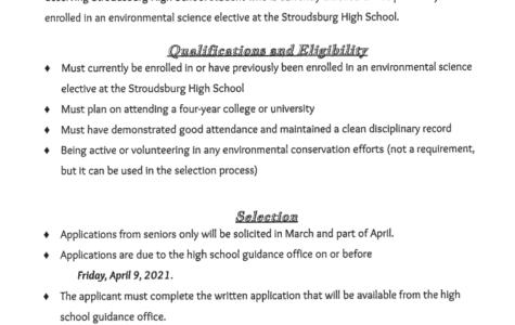 William E. Shearer Scholarship (Due: 04-09-21)