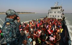 Rohingya refugees being sent to Bhasan Char island due to the overcrowding of Coxs bazaar.