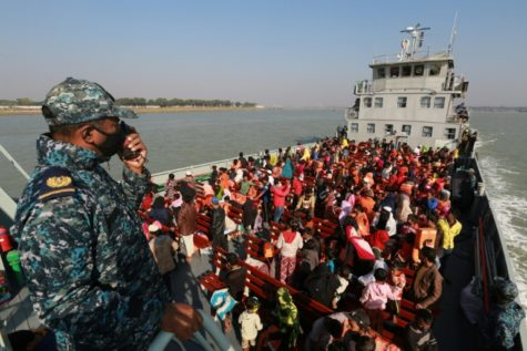 Rohingya refugees being sent to Bhasan Char island due to the overcrowding of Cox