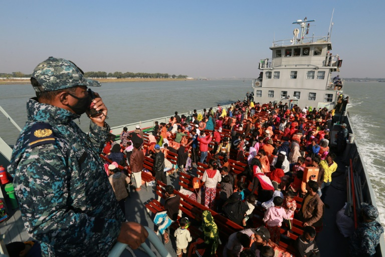 Rohingya refugees being sent to Bhasan Char island due to the overcrowding of Cox's bazaar.