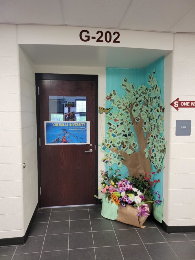 Ms.Koch's homeroom decorated their door using the theme of
