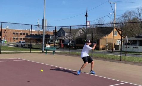 Junior John Willis has had much success this season as he leads the Mountaineer boys tennis team.