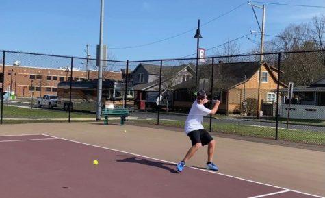 Junior John Willis has had much success this season as he leads the Mountaineer boys tennis team.