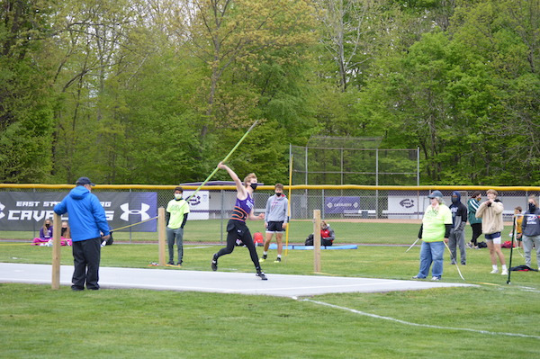 Bobby Mcclosky of East Stroudsburg South competes in the javelin finals.