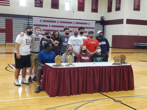 13 student-athletes signed with their future schools in the high school gymnasium Friday afternoon.