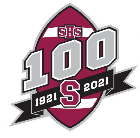 Stroudsburg's 100th anniversary of football logo