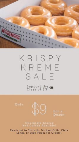 Class of 2023 is holding a Krispy Kreme fundraiser until October 12th!