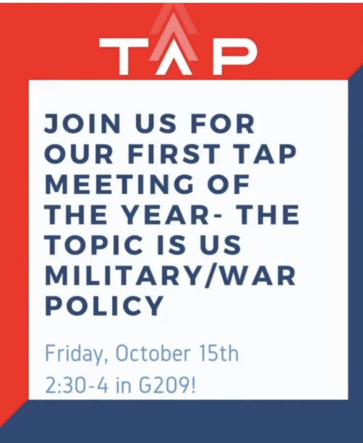 The Acceptance Project (TAP) is having their first meeting this Friday at 2:30!